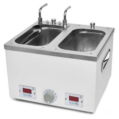 Водяная баня лабораторная ЛБ-57164 с 2-мя рабочими ваннами по ГОСТ Р 57164